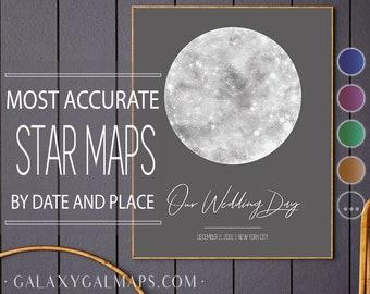 Star Map Personalised, CUSTOM Star Map Digital, Real Night Sky Star Chart, Personalized Star Gazing Gift, Stargazer Home Decor Stargazing