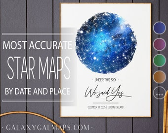 Star Map PERSONALISED, On This Day Star Map Custom Gift, Star Map Of Sky Print, Star Map Poster Custom Night Sky Map Of Northern Stars Print