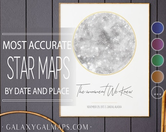 Custom Star Map Print BY DATE, February Birthday Zodiac, First Kiss, March Birthday, Milky Way, 10th 1st Anniversary Gift, Adoption Gift