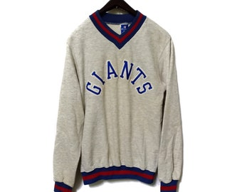 Vintage Champion Giants V-neck Embroidery Spell Out Big Logo Sweatshirt  Small Size Made in USA ab002b945