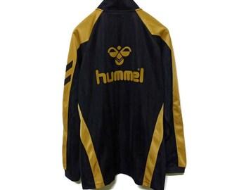 4a16683b8 Vintage Hummel Spell Out Big Logo Tracksuit Sportswear Zipper Jacket