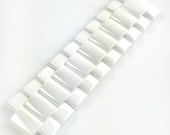 f665dc18ec92 For EMPORIO ARMANI AR1456 Ceramic Black Half Strap Band Bracelet Watch 22mm  Fits Also AR1424