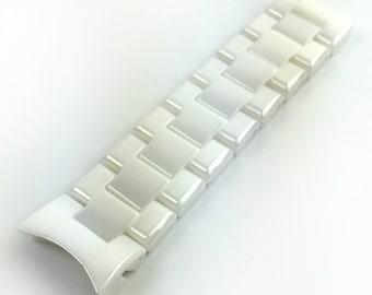 b2b660db1dd1 For EMPORIO ARMANI AR1415 Ceramic White Half Strap Band Bracelet Watch 22mm  Fits Also AR1403 AR1416