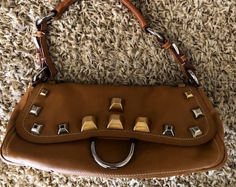 18c04906f20d50 PRADA Camel Leather Bag with Studs