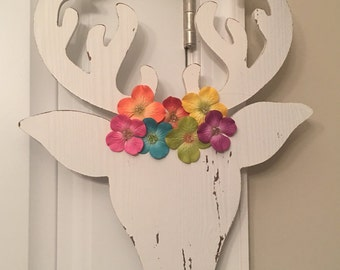 11bba596bb1 Antlers and Flowers (Whitewash)