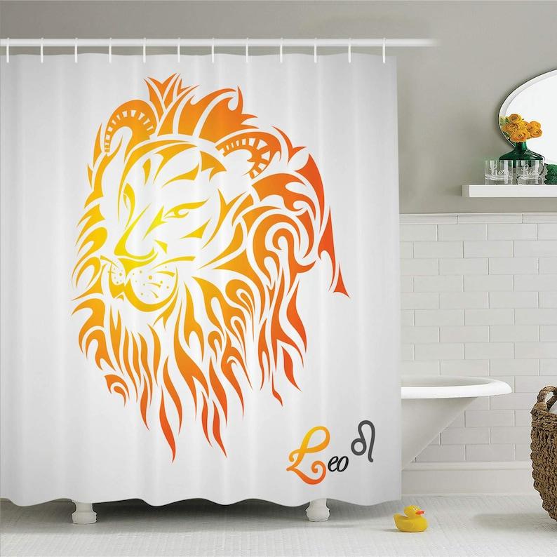 Egyptian Astrology Papyrus Shower Curtain Bathroom Waterproof Fabric /& 12 Hooks
