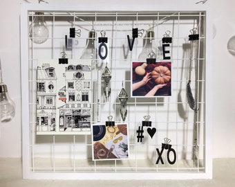 Wire Wall Grid Etsy