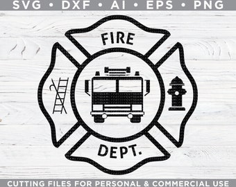 fire dept svg etsy Univent Saw Fire Cut Sheet fire department svg fire dept svg firefighter svg maltese cross svg cutting files for silhouette cricut svg dxf ai eps