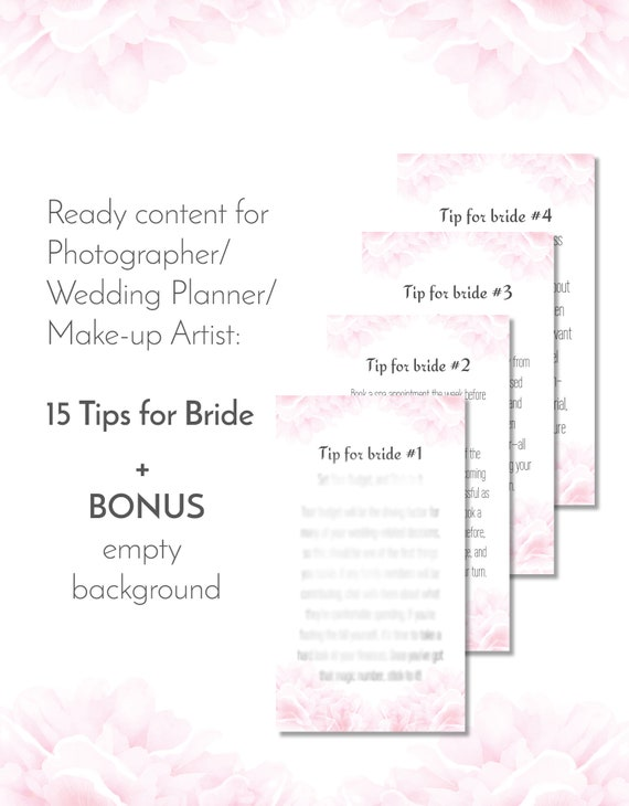 Blogger Photographer Instagram story Template ready to use content pack,  wedding planners social media blog post content, wedding organizer