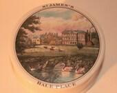 Vintage St James 39 s Hale Palace Staffordshire Porcelain Box