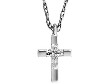 f1622a0c55 Men's Necklace - Small Cross Necklace - Men's gold cross necklace - Mens  Jewelry - Gold cross pendant necklace for men - Gold chain necklace