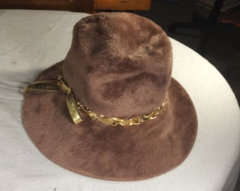 d1ef9cc916a14 Milady Fur Felt Hat Designed by Amy New York for Marshall Fields Chicago