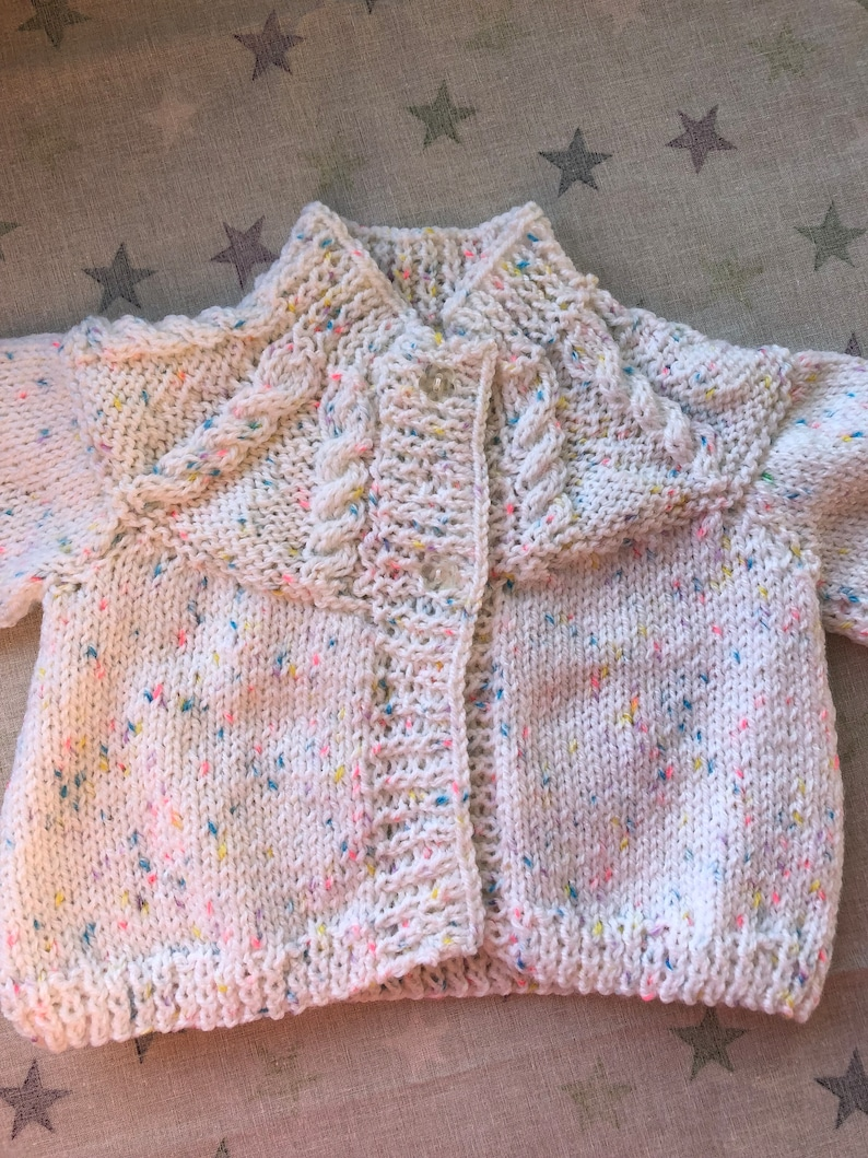 White Speckled Matinee Coat