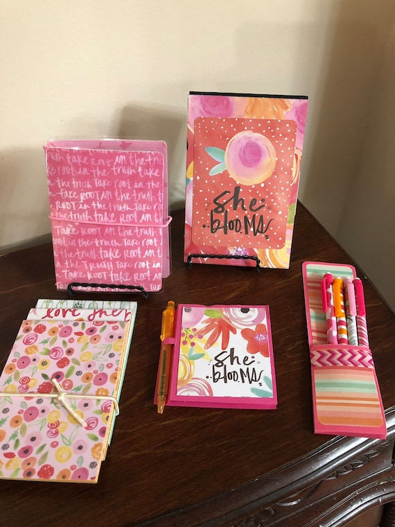 Floral Traveler S Notebook And Stationery Set Etsy
