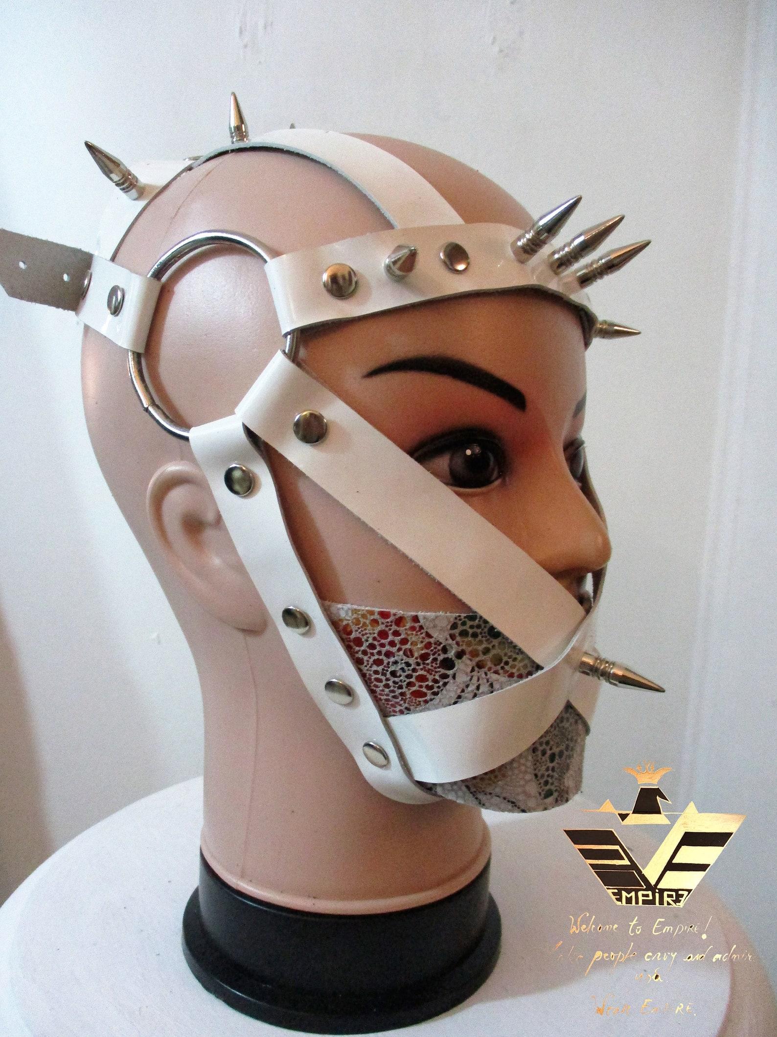 064 Mask Tucker l Face mask BDSM mask Leather gag BDSM   Etsy