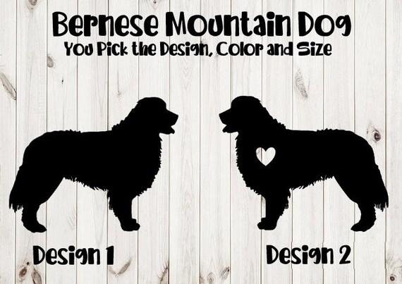 "dog breed 6.5/"" BERNESE MOUNTAIN DOG vinyl decal car window laptop sticker"