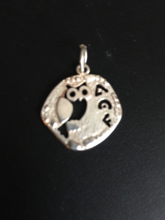 Owl of goddess Athena pendant
