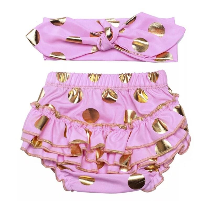 Baby Girl Polka Dot Ruffles Bloomers Sets