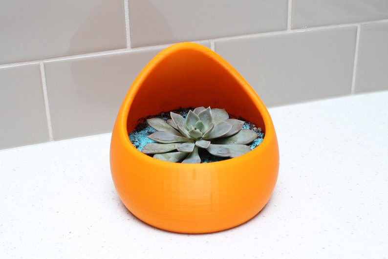 3D Printed Succulent Planter  Indoor Pots for Succulents and image 0
