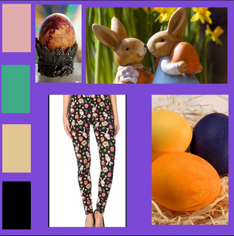 Easter Hoppy Endings Leggings 3-14