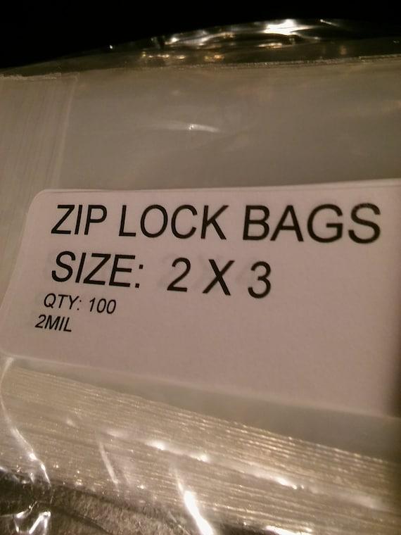 100 Zip Lock Bags 2x3 Polypropylene Free shipping