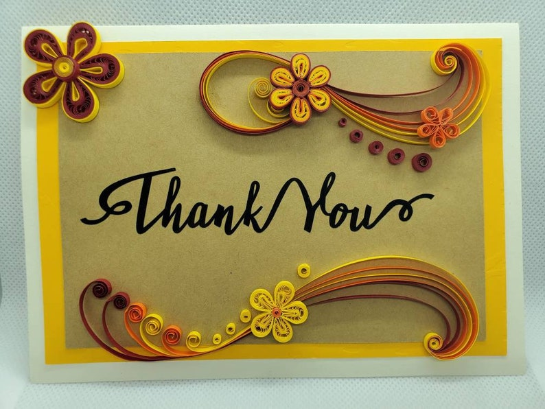 Paperquilled Thank You