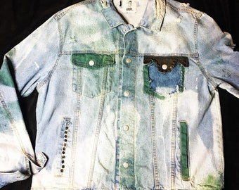 8f17f12b0 AXDPE DenimMafia Custom Dreamworks Patched Denim Jacket