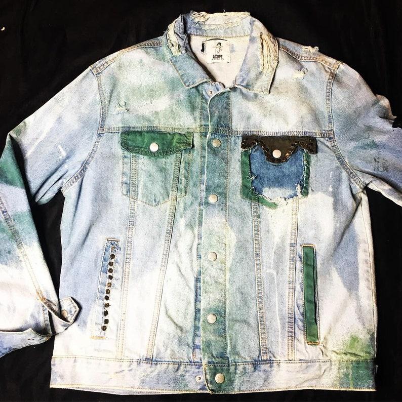 ef830793 AXDPE DenimMafia Custom Dreamworks Patched Denim Jacket | Etsy