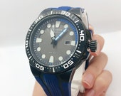 Citizen Eco Drive Scuba Fin Watch with Navy and Black Band
