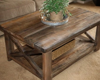 Ordinaire Rustic Coffee Table And End Tables **local**