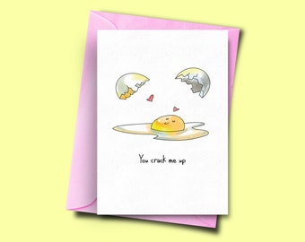 Birthday Cartoon Funny Card Food Pun Card For Him Have an Egg-cellent Birthday  Funny Birthday Card Birthday Card For Her Pun Card