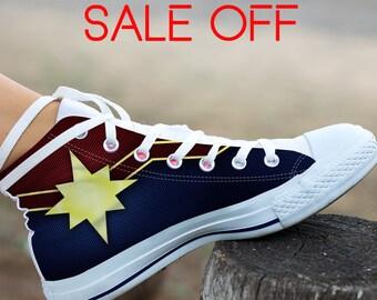 Captain Marvel Custom Shoes d5a02c69e