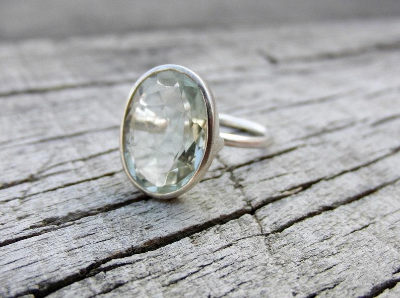 Natural Prasiolite Gemstone Ring Ring For Women- Beautiful Ring 925 Sterling Silver Gemstone Ring Green Amethyst Ring Handmade Ring