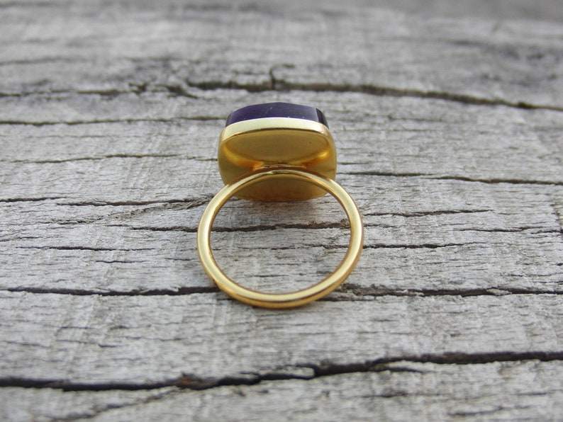 Natural Gemstone Ring Sterling Silver Gold Plated Ring 925 Sterling Silver Gemstone Ring Designer Ring Amethyst Ring Promise Ring