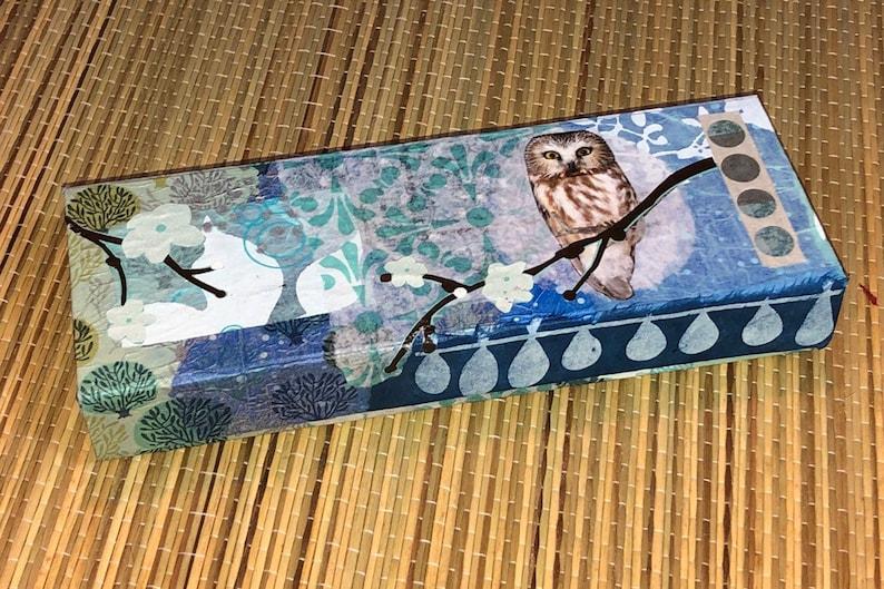 Owl decoupage gift box