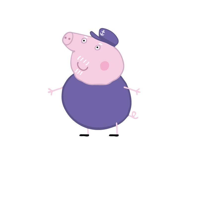 636d18c72 Peppa Pig Inspired Grandpa Pig Easy 2 Print Any Size diy