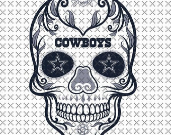 Dallas Cowboys Skull SVG fefcac3c1