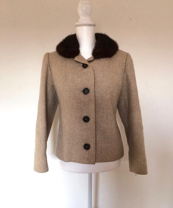 50s Mink Collar Jacket