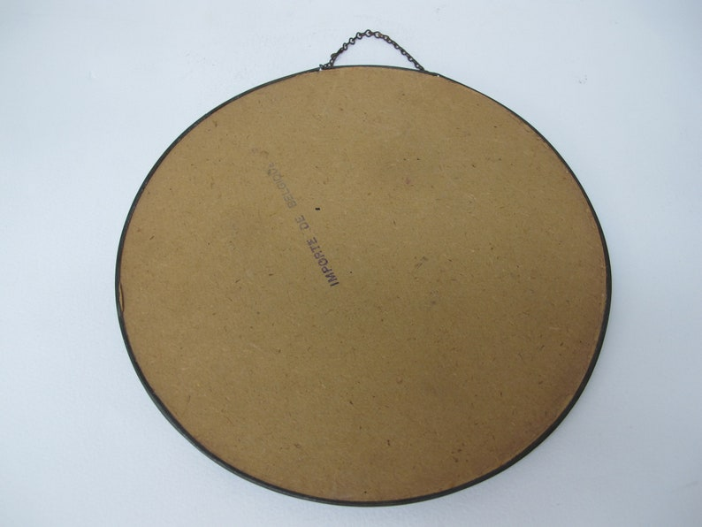 Former round frame in translucent glass Millet/'s gleaners