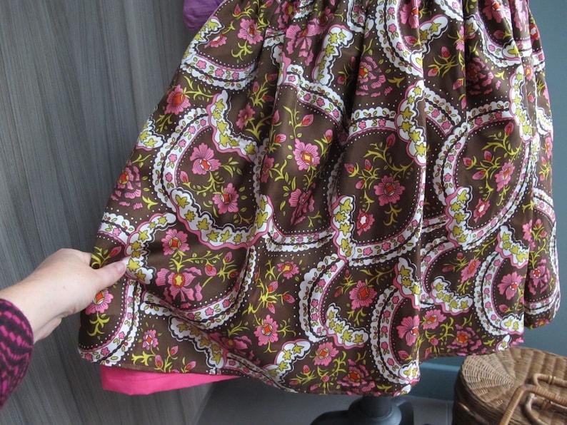 Designer skirt in vintage fabrics size 38 fabric brand