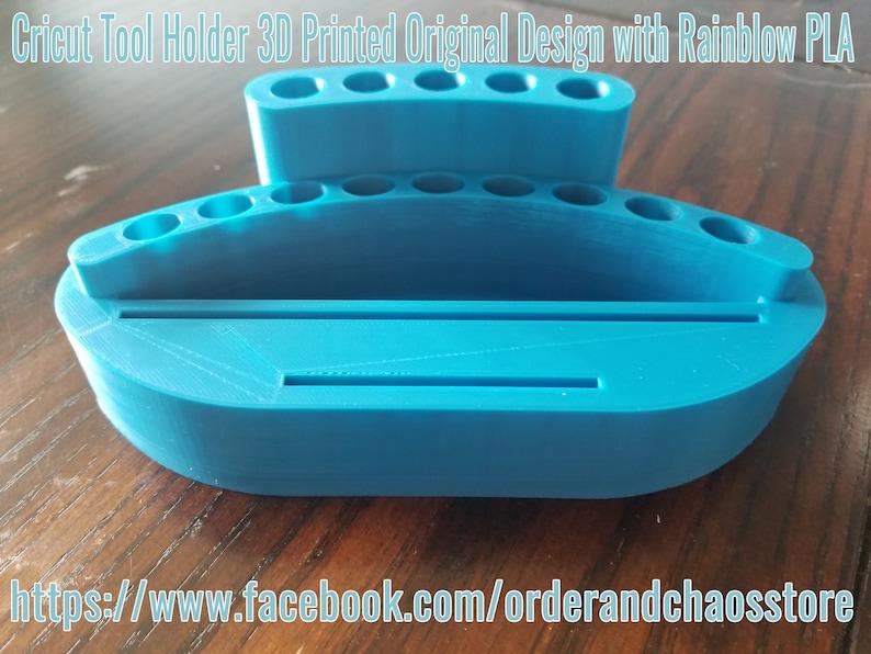 Light Blue Silhouette Vinyl Tool Holder Cricut Tool Holder Organizer Caddy Cricut Cameo