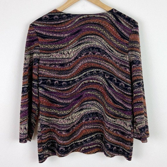 Laura Ashley Vintage 90's Abstract Textured Blouse - image 7