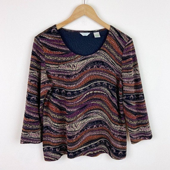 Laura Ashley Vintage 90's Abstract Textured Blouse