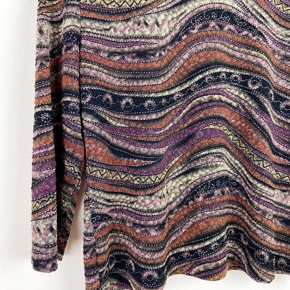 Laura Ashley Vintage 90's Abstract Textured Blouse - image 9