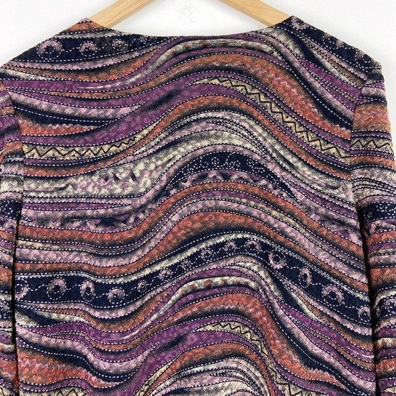 Laura Ashley Vintage 90's Abstract Textured Blouse - image 8