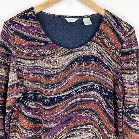 Laura Ashley Vintage 90's Abstract Textured Blouse - image 2