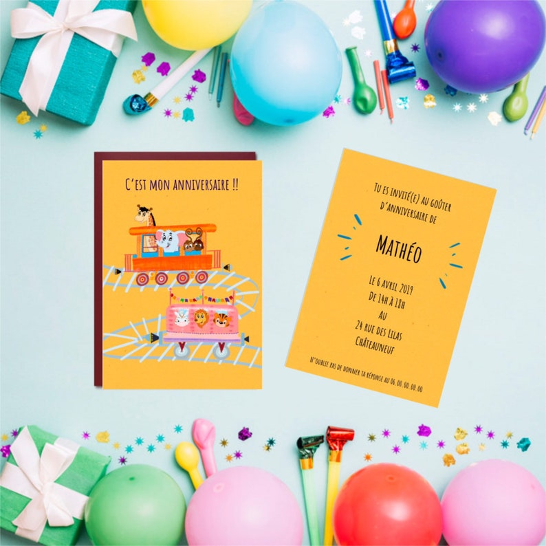 Invitation Card To A Child S Birthday Party Children S Birthday Party Card