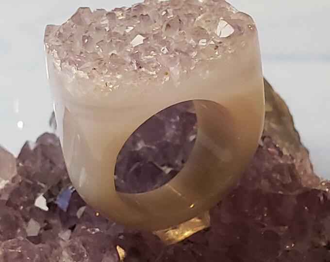 Solid Amethyst Ring - Natural Amethyst ring Amethyst Ring - Natural Amethyst ring Amethyst Ring - Natural Amethyst ring
