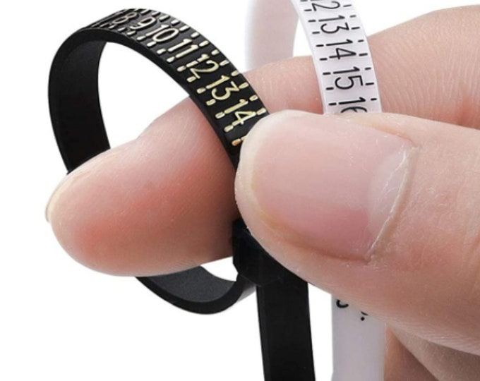 Ring Sizer Gauge For Finger Measuring, US Belt Type Ring Sizing Tool, Ring Size Gauge With Free Shipping Same day if ordered by 3pm CST Time