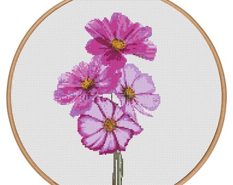 Flower-Love Three Tulips Counted Cross stitch pattern PDF Instant Download Cross Stitch Pattern Needlepoint #1518 MORE for FREE